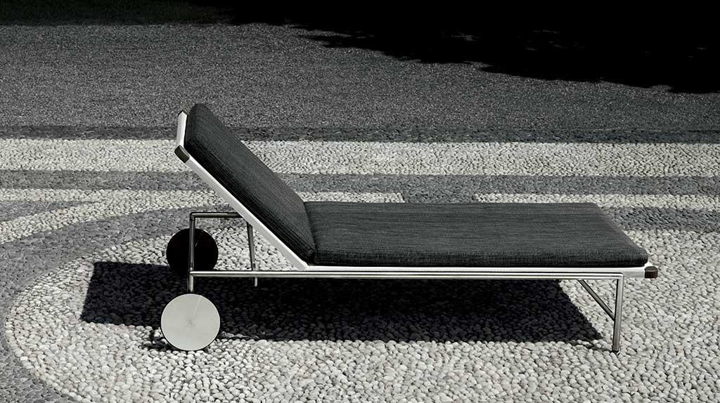 lettino ruote nero