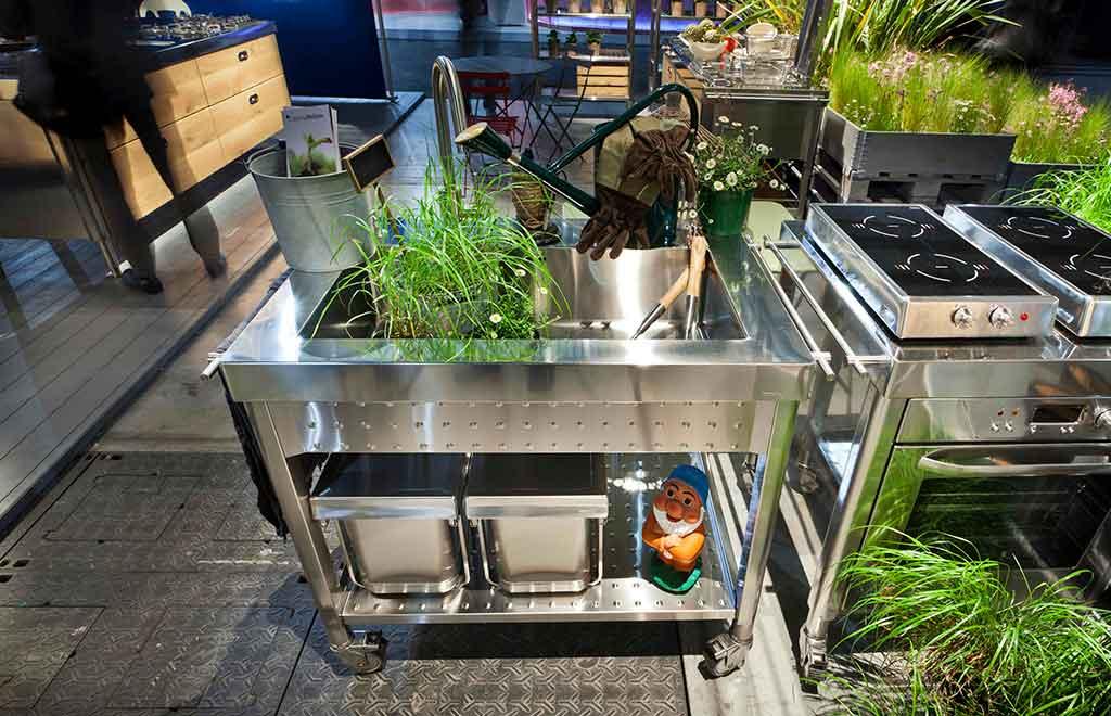 modulo cucina esterno rotelle