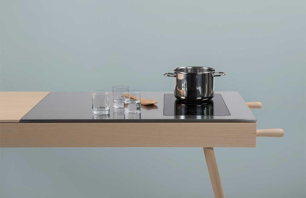piano induzione mini cucina