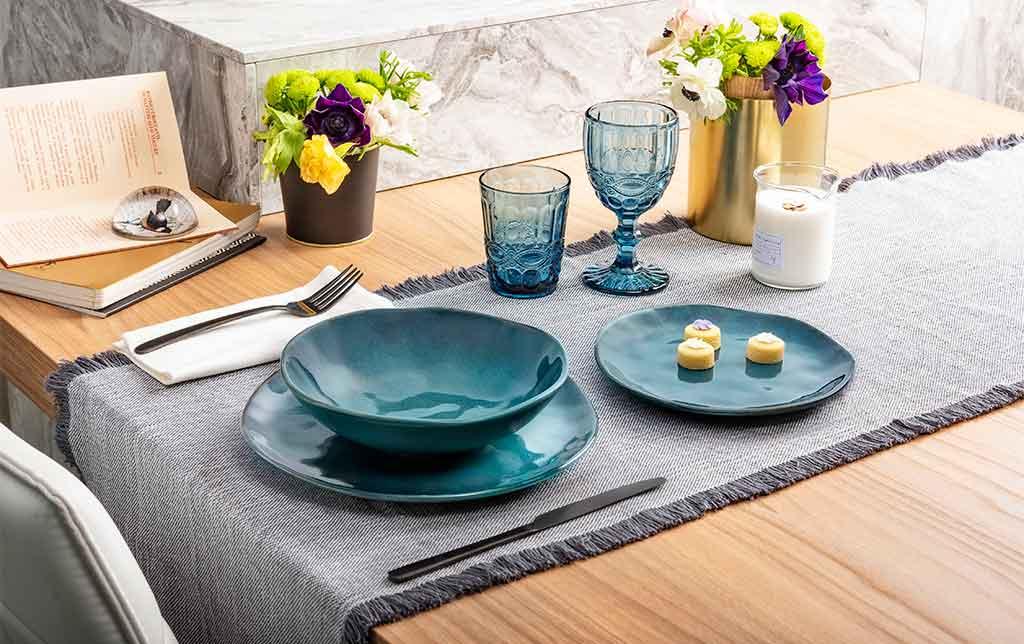 piatti blu mare
