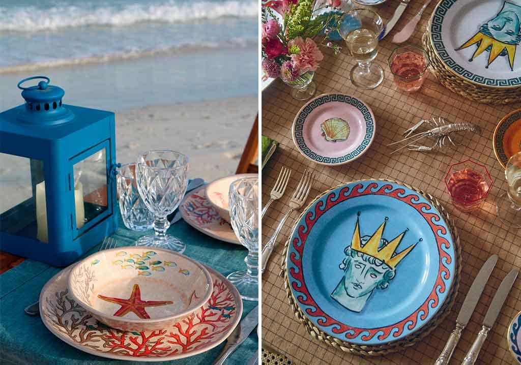 piatti stella marina e nettuno