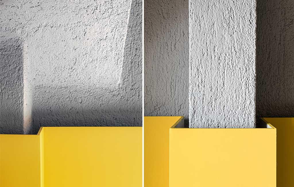 rivestimento giallo intonaco