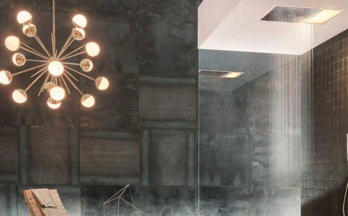 soffione doccia incasso luce integrata