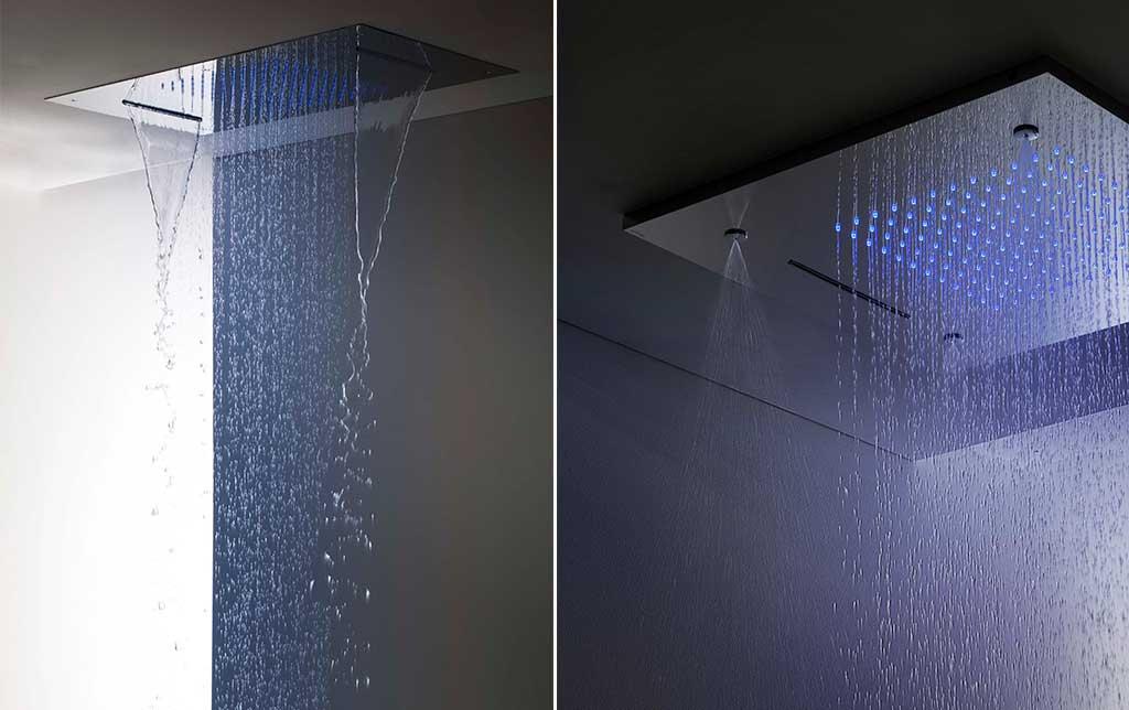 soffione doccia incasso piastra rettangolare