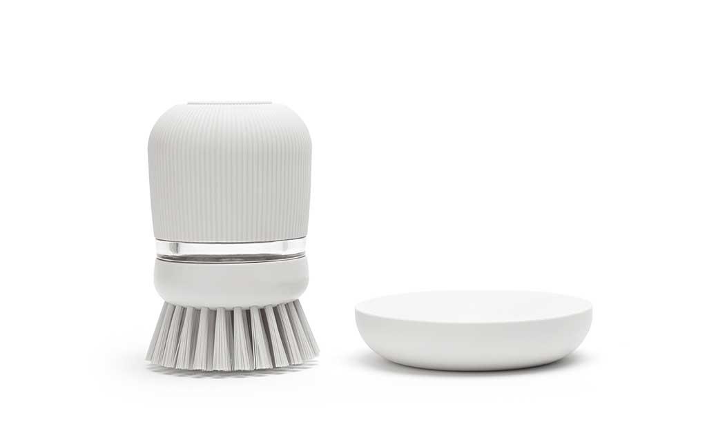 spazzola lavapiatti con dosatore sapone