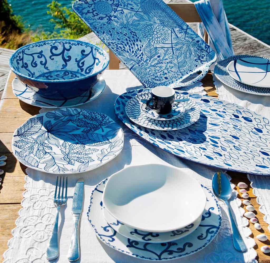 tableware decoro blu