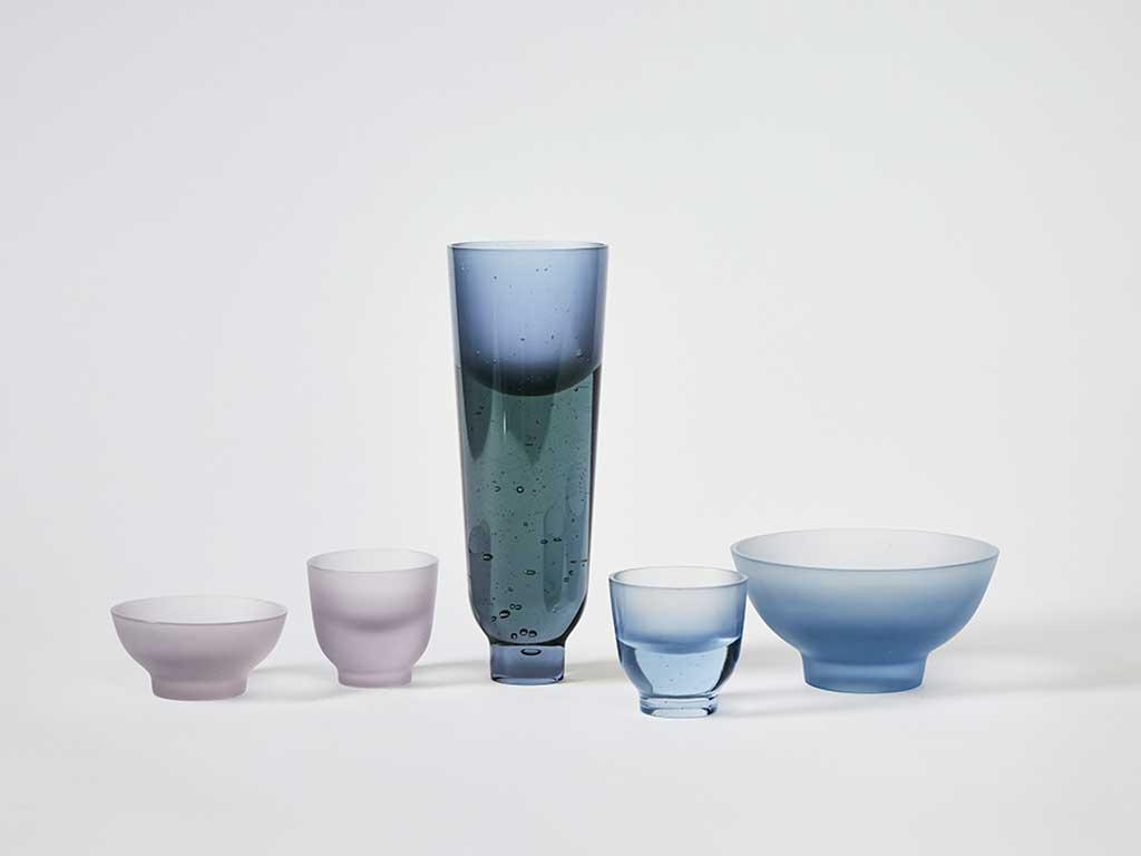 vaso e ciotole vetro design