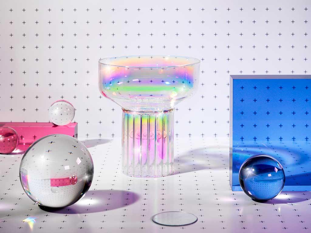 bicchiere atollo iridescente