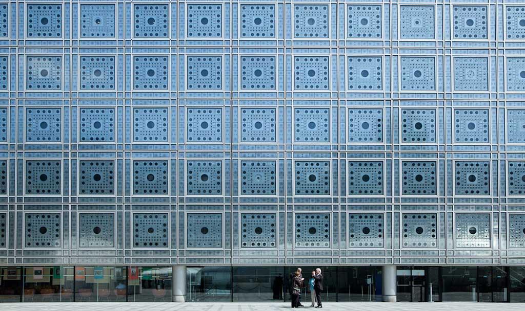facciata institut de monde arabe parigi