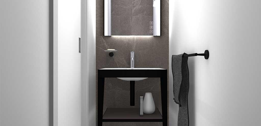 lavabo bagno nero struttura