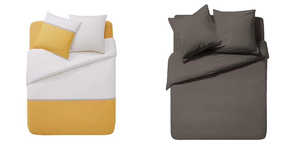 lenzuola giallo bianco e grigio