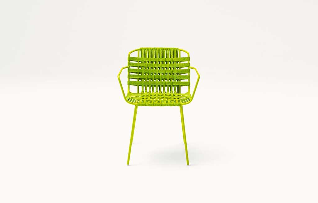 sedia verde pistacchio