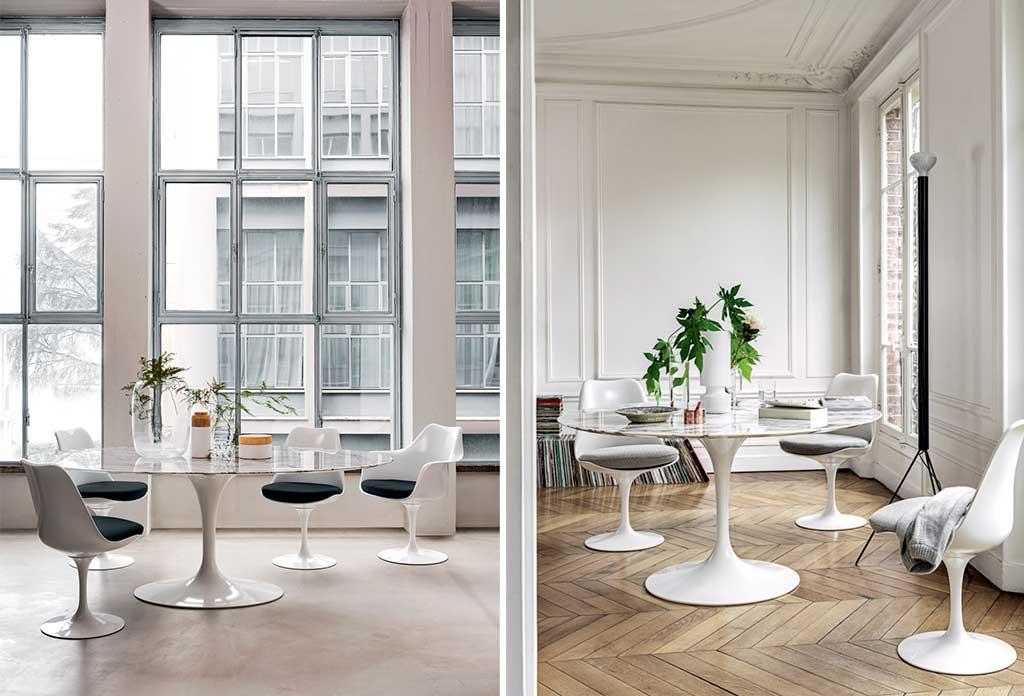 sedie e tavolo tulip
