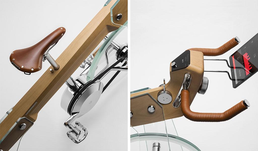 sella e manubrio design cyclette