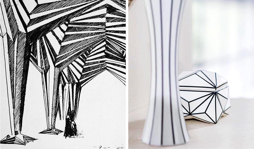 dettagli ceramica cubismo