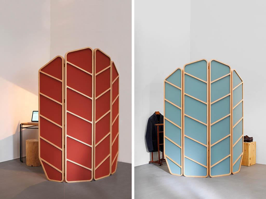 paravento con telaio legno design