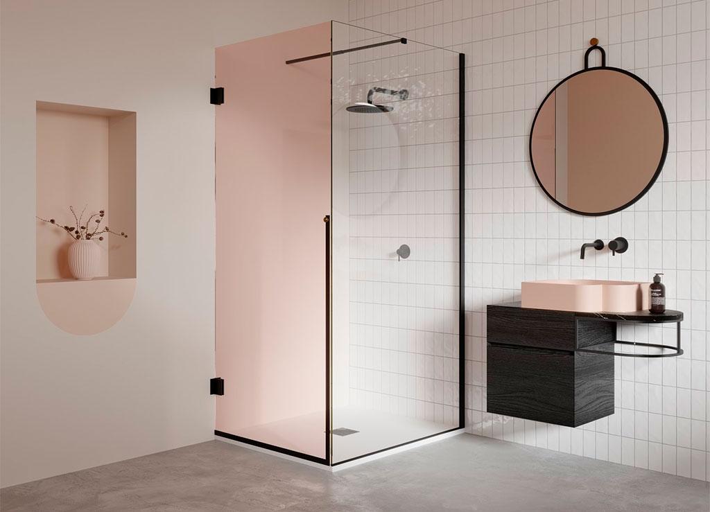 box doccia vetro doppio colore