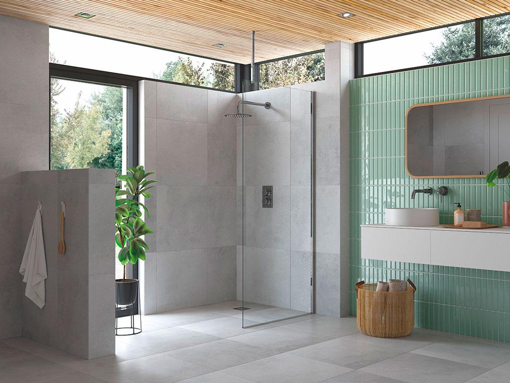 box doccia vetro barra soffitto