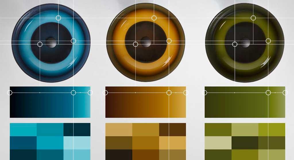 lavabi tondi colorati design