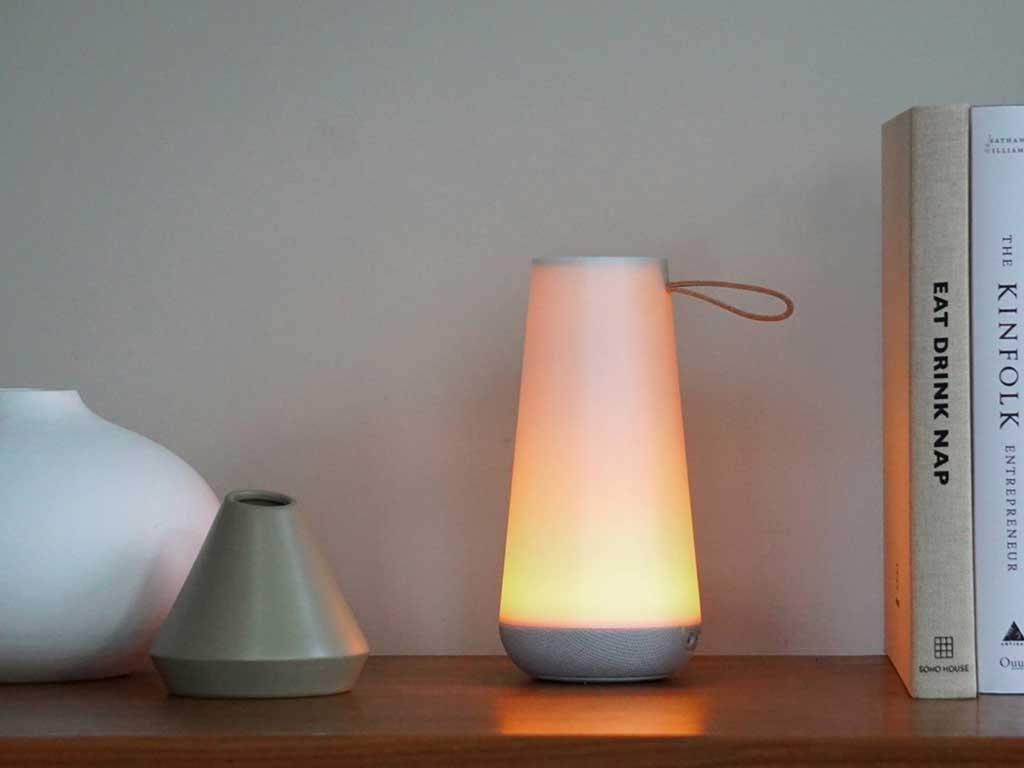 lampada e cassa mini
