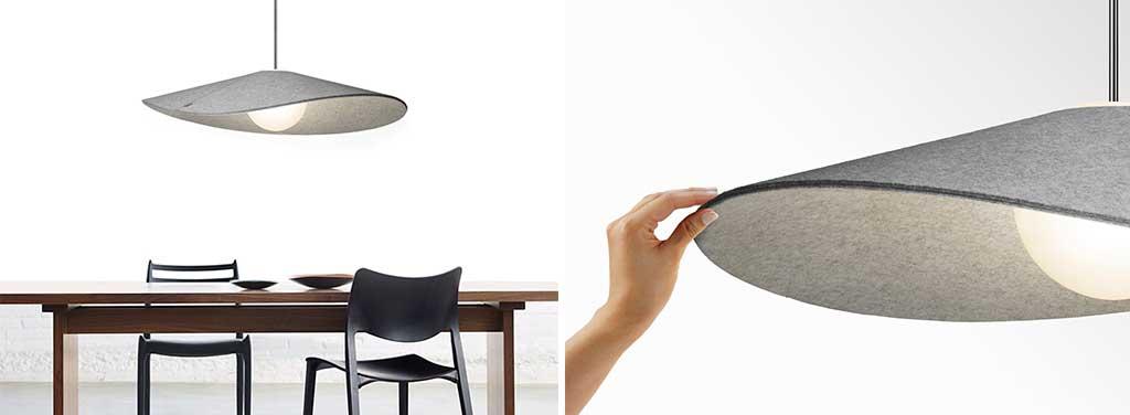 lampadario paralume feltro
