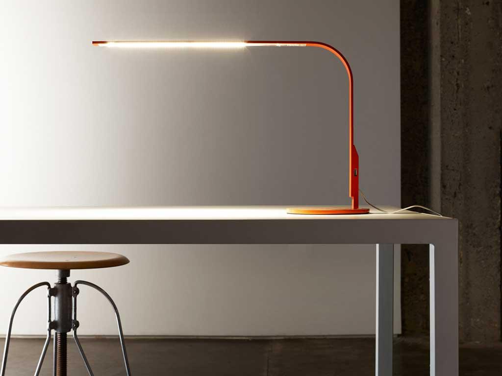 lampada tavolo rossa grande