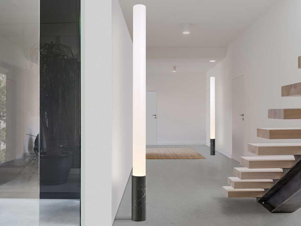 lampada terra base marmo