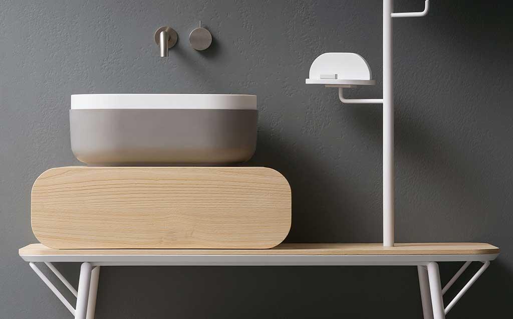 lavabo appoggio con cassetto