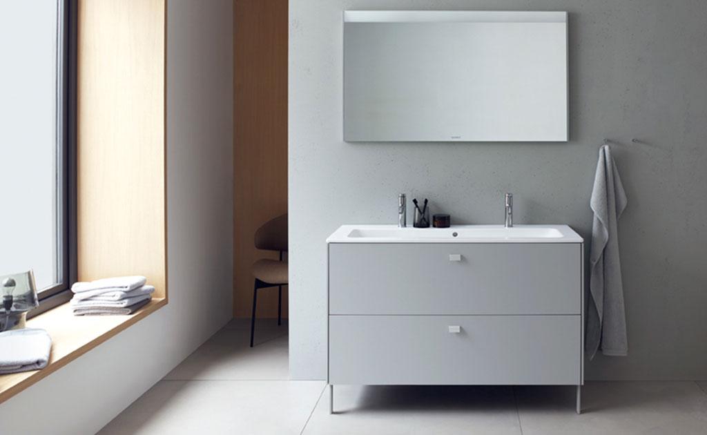 mobile bagno grigio chiaro