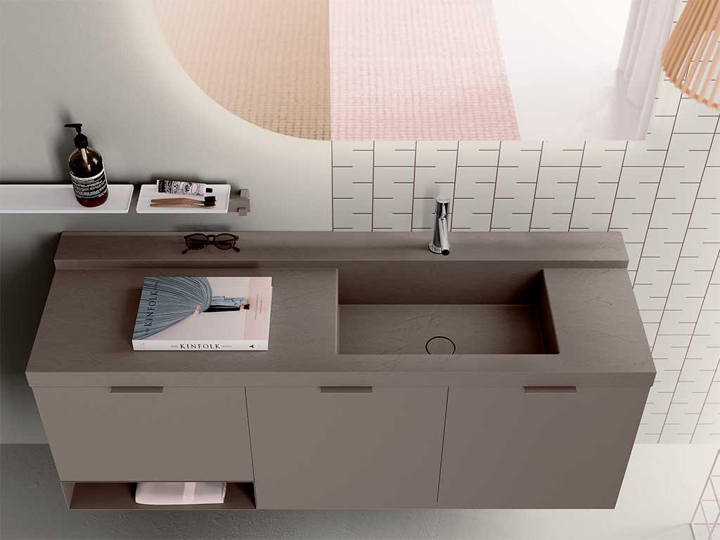 mobile bagno lavabo incasso colore cemento