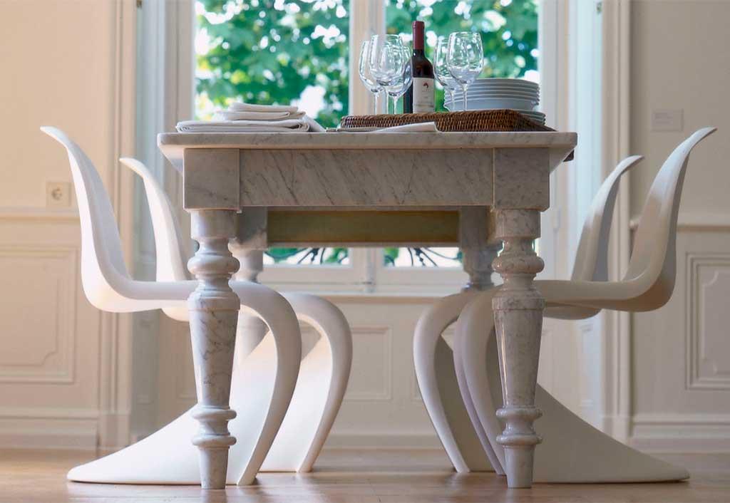 panton chair bianco