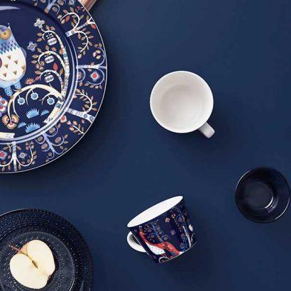 piatti tazze blu