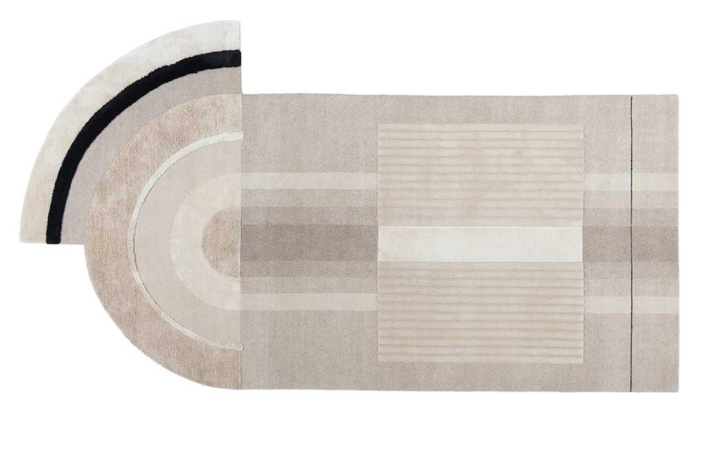 tappeto sfumature beige