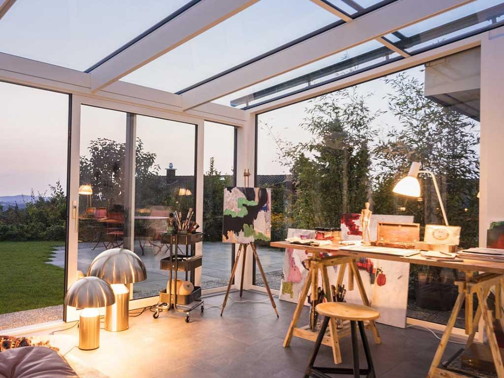 veranda tetto vetro