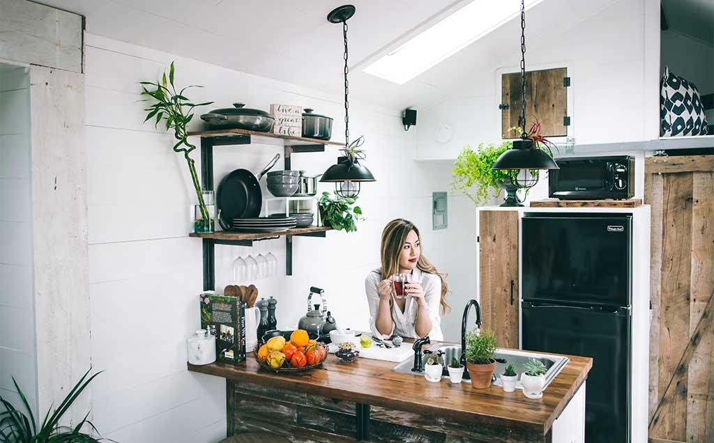 angolo cucina mansarda