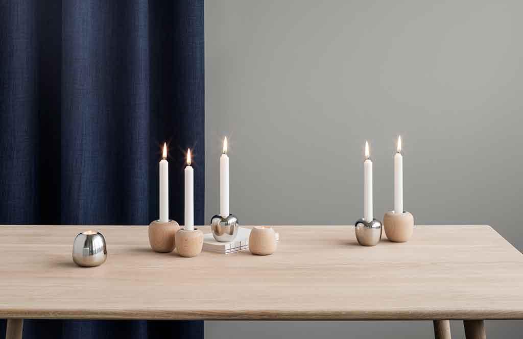 candelabri legno massello
