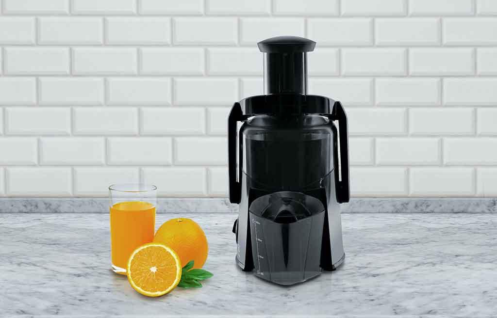 centrifuga nera arancia succo