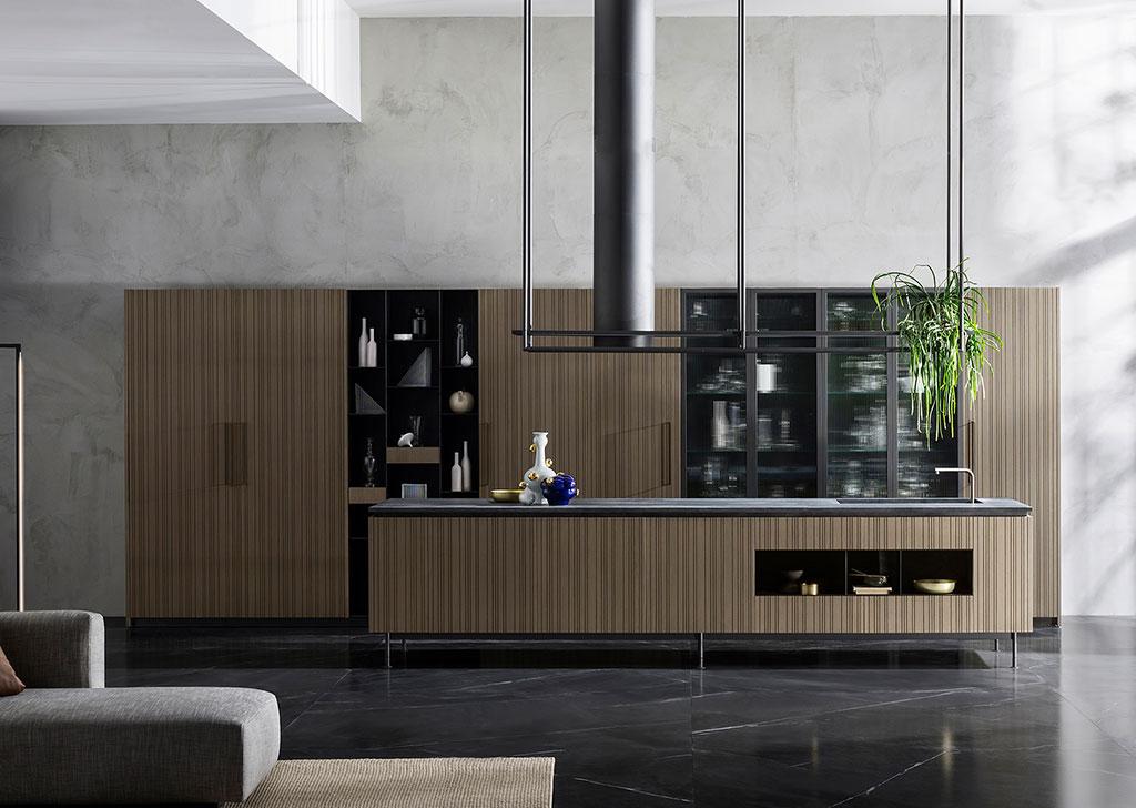 cucina isola design compasso oro