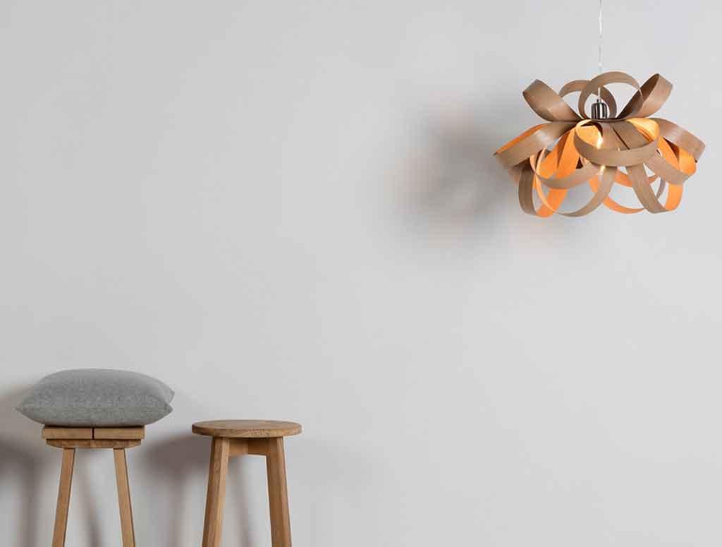lampadario legno skipper