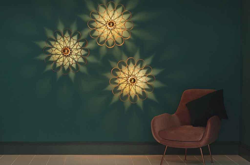 lampade legno parete