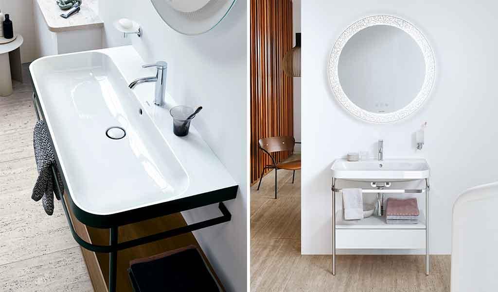 lavabo consolle doppio colore