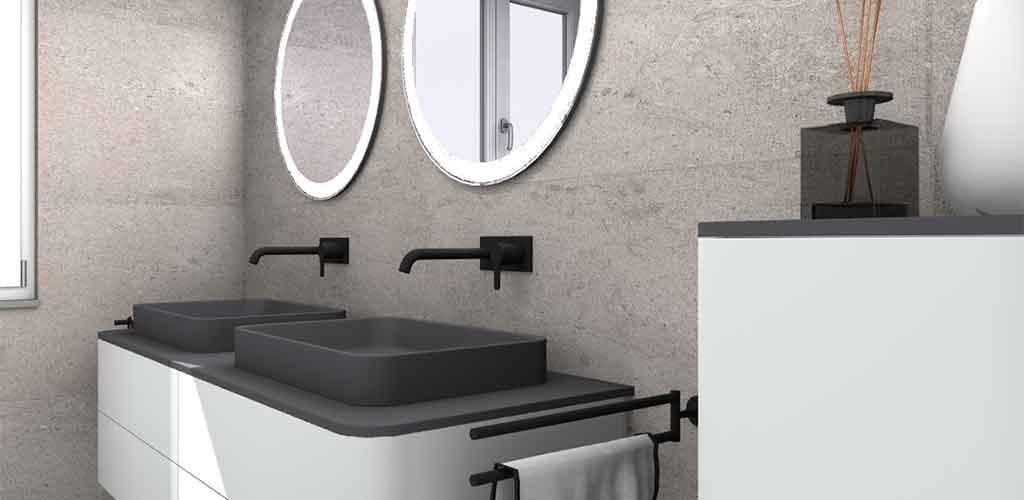 arredo bagno doppio lavabo