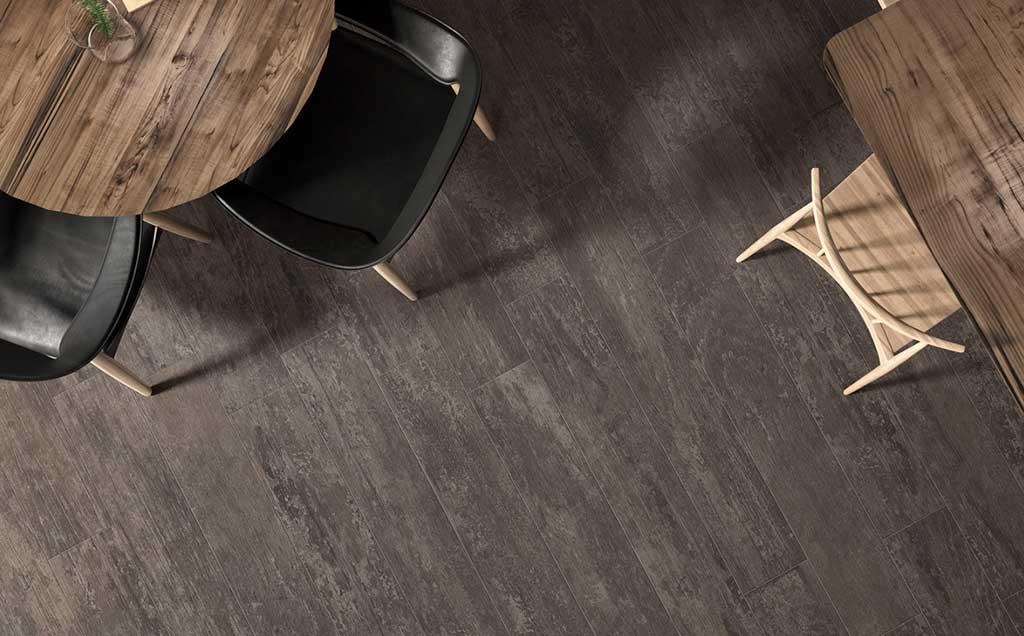 pavimento gres effetto legno color tabacco
