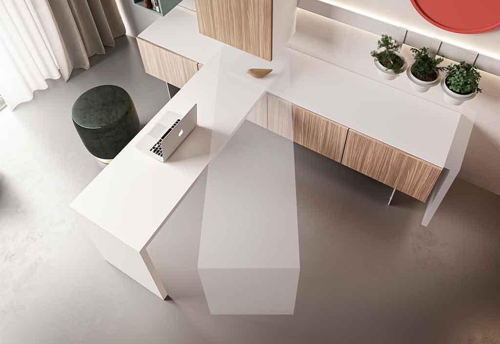 tavolo scrivania orientabile