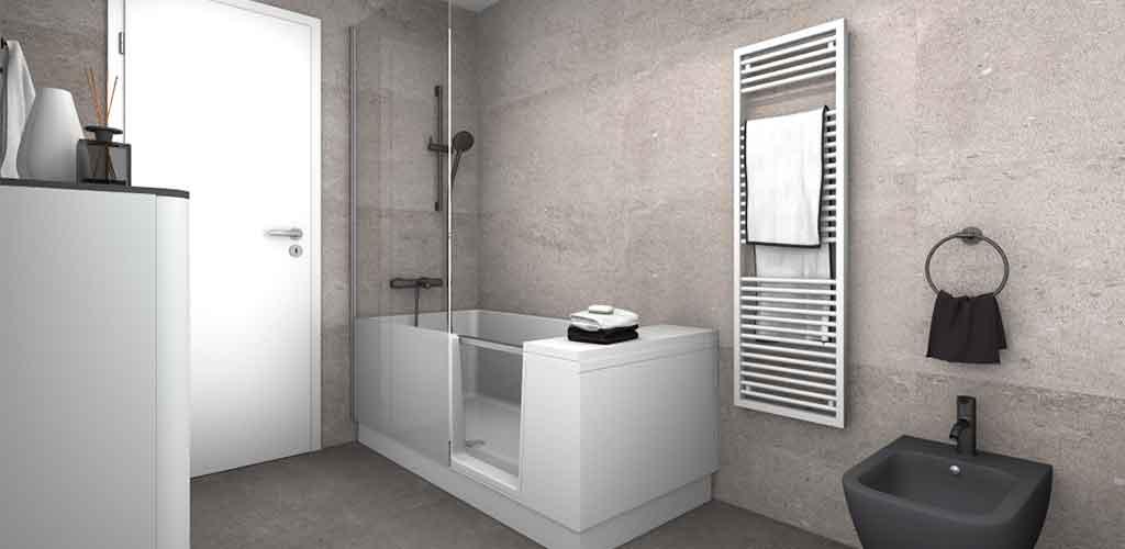 vasca accesso doccia