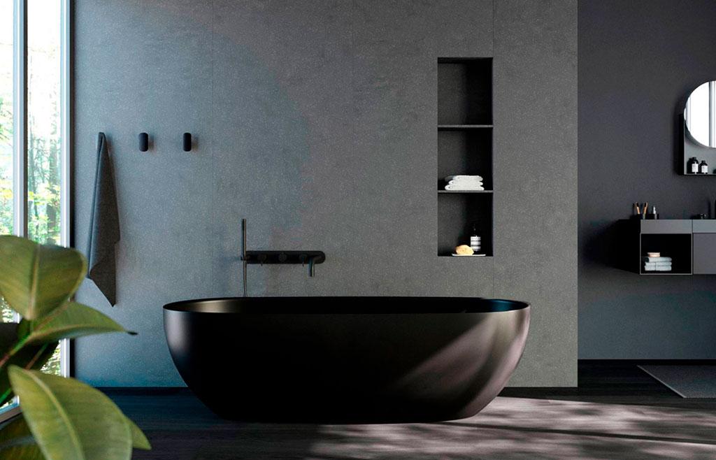 vasca bagno scuro