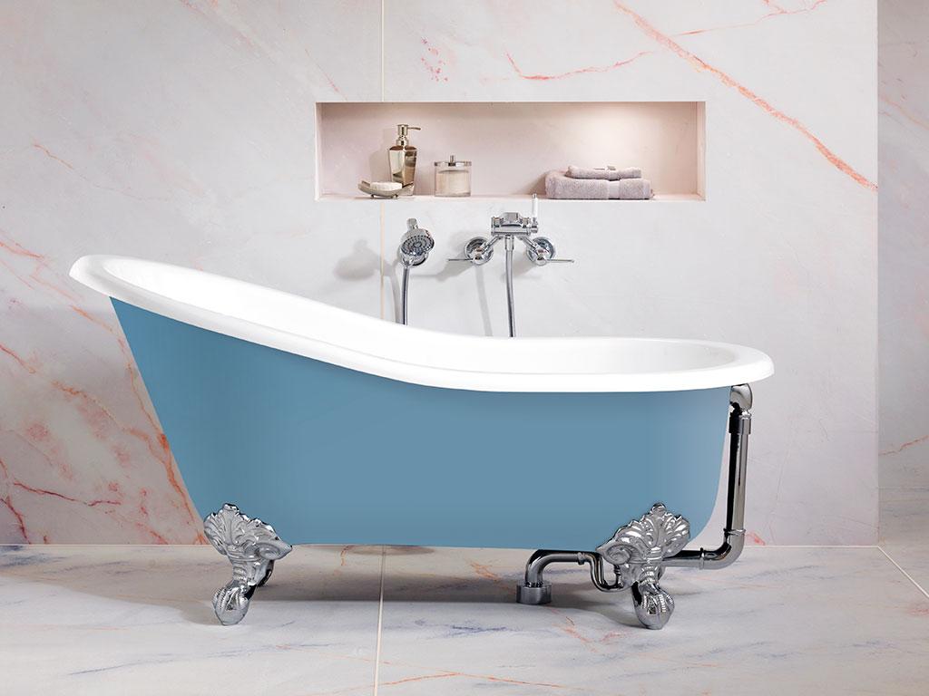 vasca bagno vintage bicolore