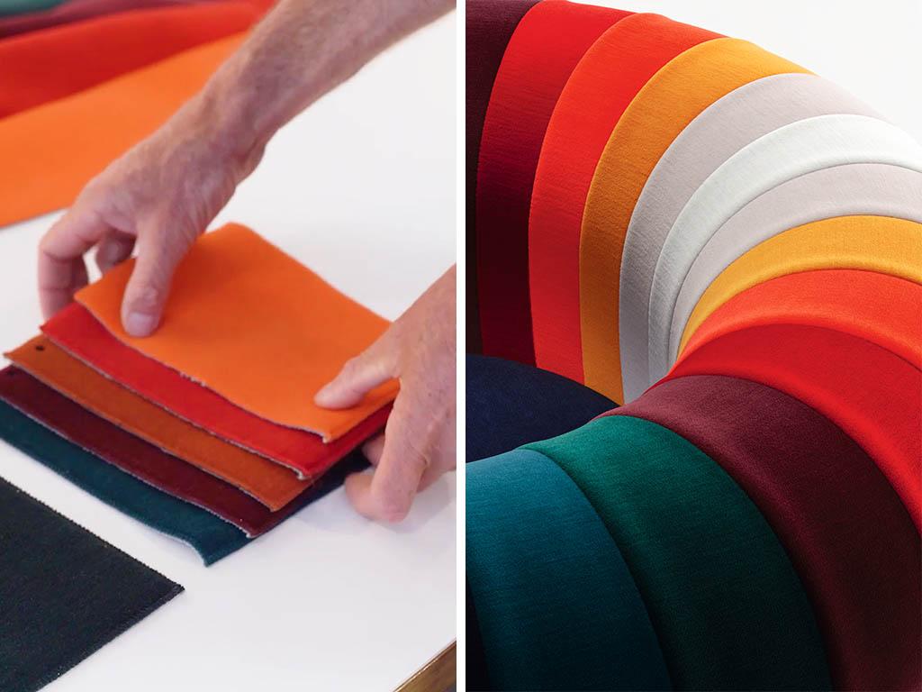 dettaglio tessuti poltrona knit