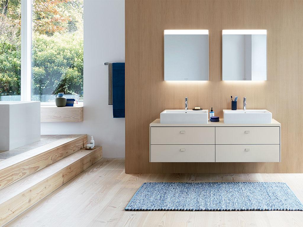 doppio lavabo appoggio arredo bagno