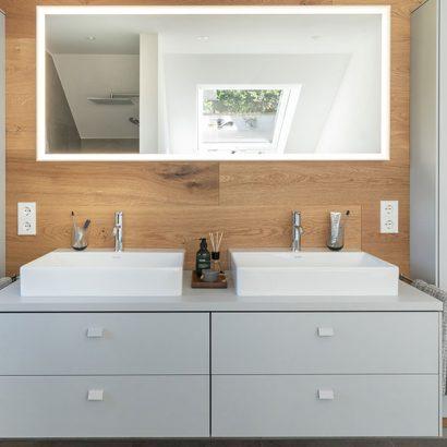 bagno ristrutturato sottotetto